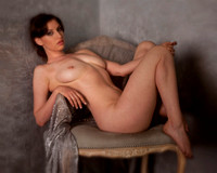 "Sarah, glamour, nude, artistic, chair, color, studio, ""soft focus"""